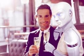 Gasten kunnen bij Niven daten met robots