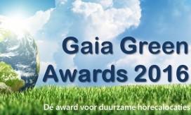 Nieuwe duurzaamheidsprijs voor de horeca: Gaia Green Awards