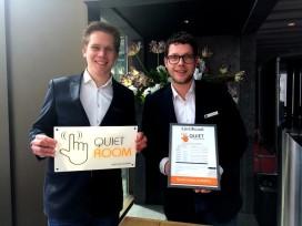 Quiet Room label voor alle hotelkamers Ramada Apollo Amsterdam