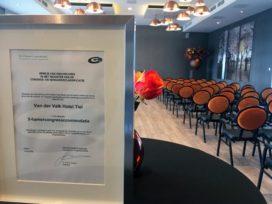 Van der Valk Tiel ontvangt certificaat voor congresaccommodatie