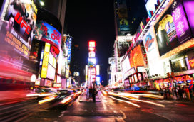 Kavalan Whiskey op reclameborden op Times Square