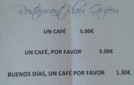 Eetcafé laat onbeleefde gasten meer betalen
