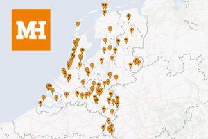 Landkaart Café Top 100 2016