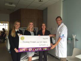 Hilton Rotterdam haalt 5000 euro op voor Sophia Kinderziekenhuis