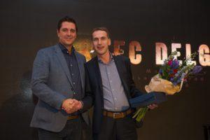 Ook Arlec Delgorge werd in het zonnetje gezet door Manu Steijaert.