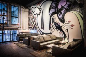 Horecainterieur: Street art in De Bajes Amsterdam