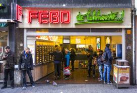Febo verkoopt beroemde saus in street art-pot