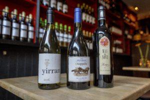 Drie toppers van de reguliere wijnkaart van Wijnbar Het Eigendom