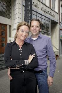 Esther en Pieter van Wijnbar Het Eigendom in Rotterdam.