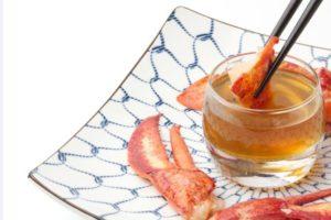 Recept Vis & Seizoen: Sashimi gedipt in kreeftenbouillion