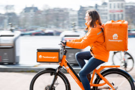 Thuisbezorgd.nl wil helft maaltijden bezorgen met elektrisch vervoer