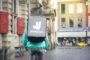 Protestmars tegen zzp-regeling restaurantbezorging Deliveroo