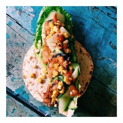 Crunchy eggplant Taco