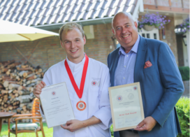 Michel Oude Booijink wint zilver bij Young Chefs Competition