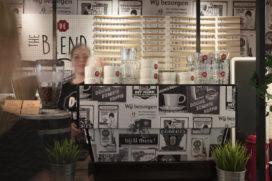 Foto's Douwe Egberts café The Blend op Hogeschool Arnhem Nijmegen