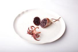 Recept Vis & Seizoen: inktvis gevuld met risotto en gebakken tentakels