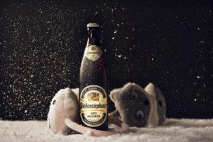 Winterbier: bier voor de winter: Hefe Weissbier Weihenstephaner