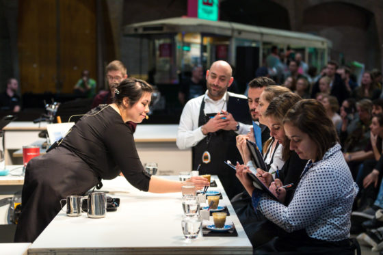 AMSTERDAM, 10 Maart 2018: Het Amsterdams Coffee Festival 2018, met de finale van het Nederlands Barista Kampioenschap. Op deze foto: Farrah Tan. © SEBASTIAAN ROZENDAAL