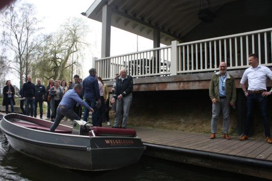Naar het boothuis van Welgelegen.