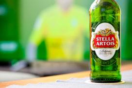 Mogelijk glas in flesjes Stella Artois